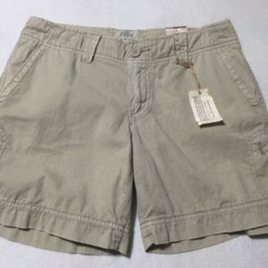 NEW American Eagle 4 Sunwash Khaki Shorts